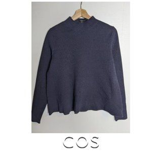 COS | High neck rib-knit sweater